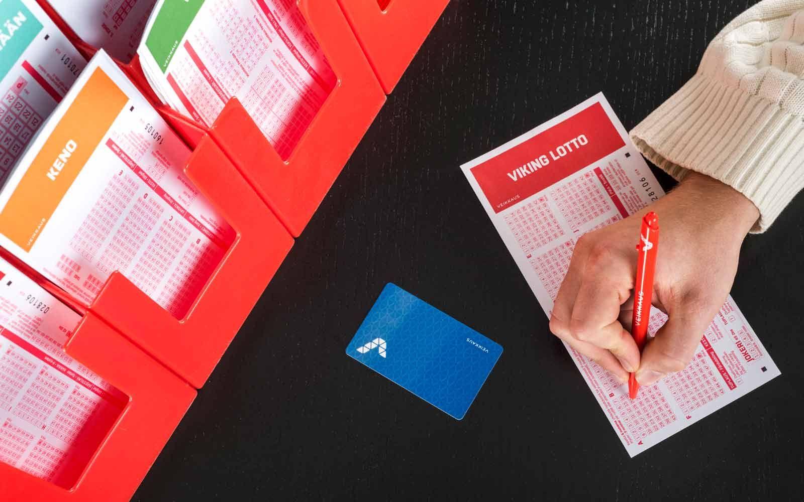 R-kioski väliaikainen veikkaus kortti
